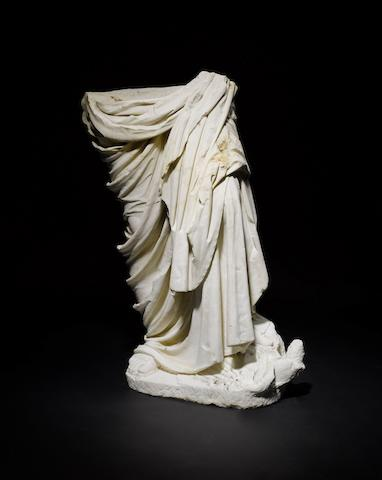 A Roman marble draped female figure
