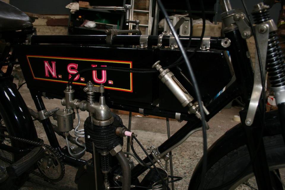 1907 NSU 460cc Frame no. 163550 Engine no. 11192