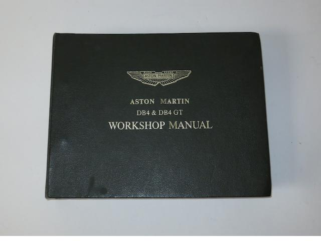 An Aston Martin DB4 & DB4 GT workshop manual,