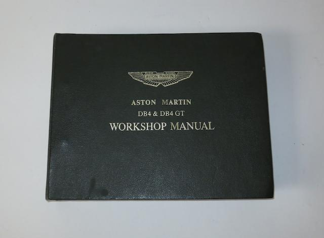 An Aston Martin DB4 & DB4 GT workshop manual,