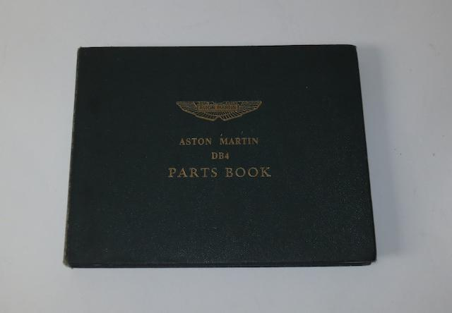 An Aston Martin DB4 Parts Book,