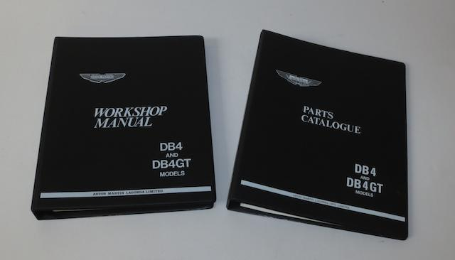 An Aston Martin DB4 & DB4GT Parts Catalogue and Workshop Manual,