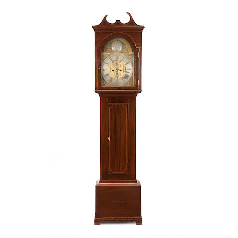 A 19th century mahogany longcase clock Inscribed McCall Crieff