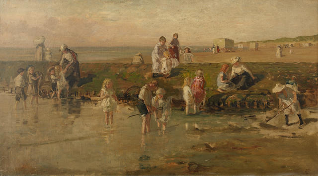 Johan Antonie de Jonge (Dutch, 1864-1927) Summertime on Scheveningen Beach