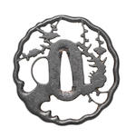 Three sukashi iron tsuba 16th to 18th century