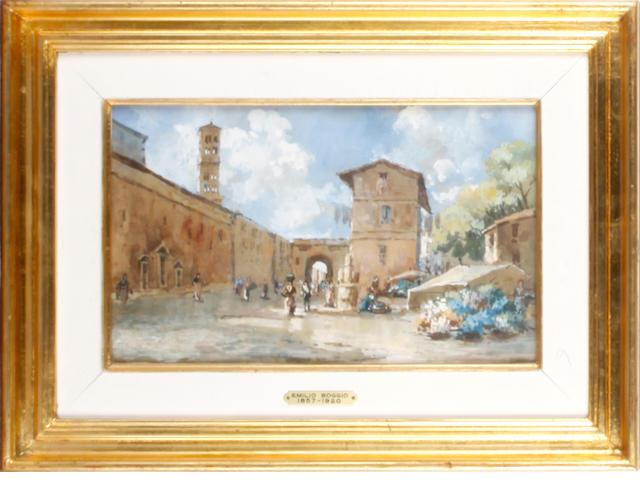 EMILIO BOGGIO (1857-1920) Vista del Pueblo Italiano de San Gerimagno