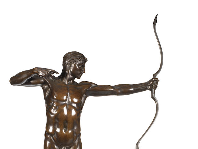 Sir William Hamo Thornycroft, British (1850-1925) A large bronze model of an archer Teucer
