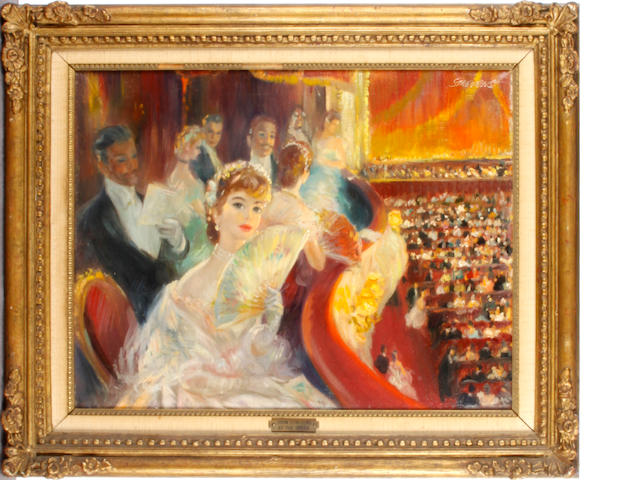 John Strevens (British, 1902-1990) 'At the Opera'