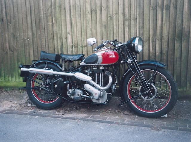 1938 Ariel 500cc Red Hunter Frame no. XG 745 Engine no. CE 247