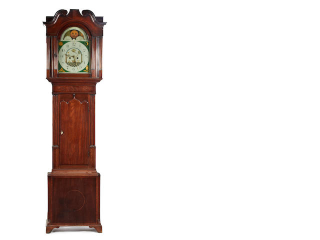A mid-19th century 8-day mahogany longcase clock John Barraclough, Haworth