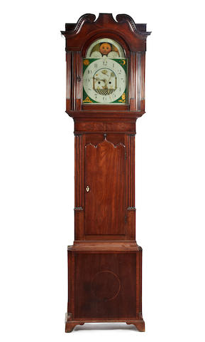 A mid-19th century 8-day mahogany longcase clock John Barraclough, Haworth