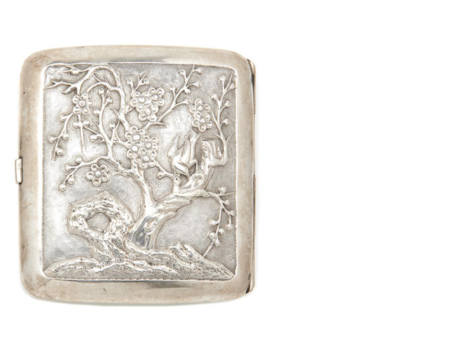 A Chinese export silver cigarette case (ex lot 2426 from Sotheby's Oxford Benefit Auction)