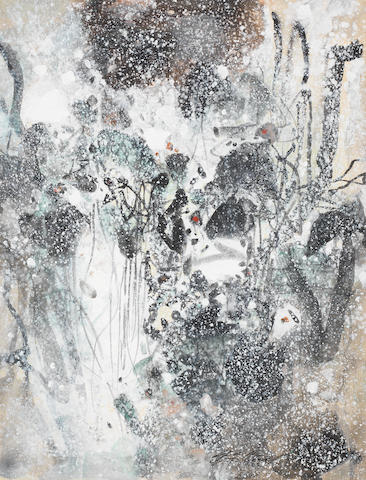 Chu Teh-Chun (b. 1920) Abstraction neige III