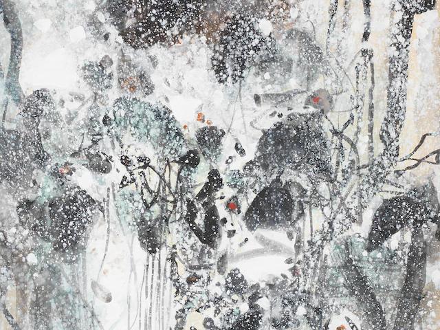 Chu Teh-Chun (b. 1920) Abstraction neige III