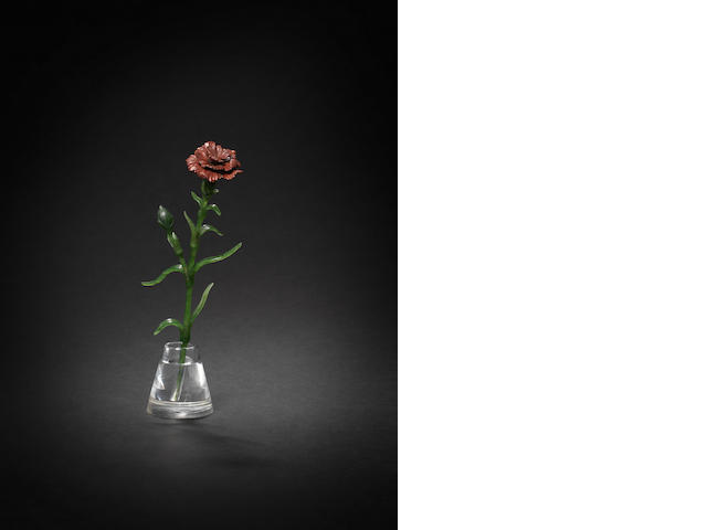 Hardstone model of a carnation