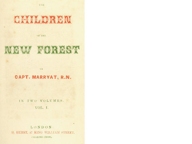 MARRYAT (FREDERICK) The Children of the New Forest, 2 vol., 1847