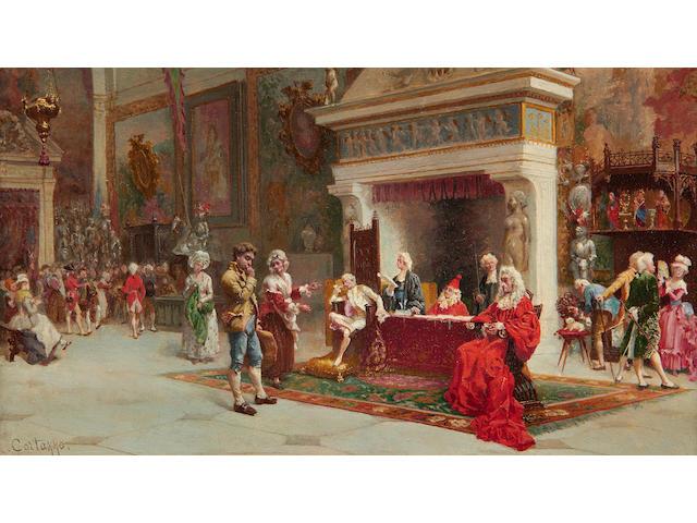 Oreste Cortazzo (Italian, born 1836) Le justice du bon vieux temps