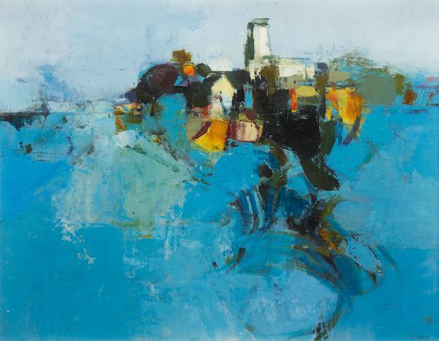 Donald Hamilton Fraser RA (British, 1929-2009) East Anglian landscape