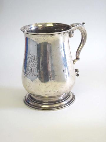 A George III silver mug by William Shaw II, London 1766