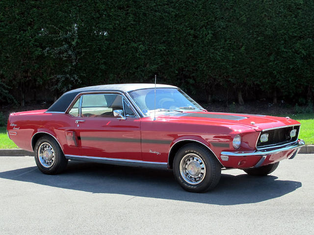 Left hand drive,1968 Ford Mustang GT/CS 'California Special' Hardtop Coupé  Chassis no. 8R01C150125