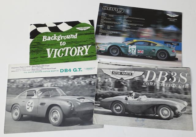 Sales brochures for David Brown Aston Martin competition cars,