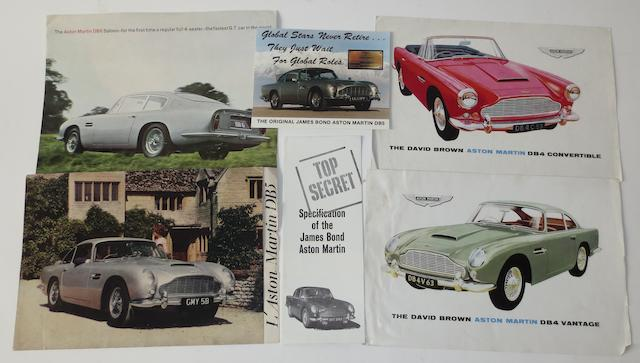 David Brown Aston Martin sales brochures,