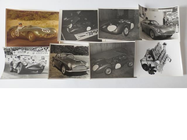 Eight original Aston Martin photographs,
