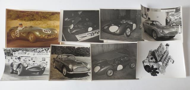Eight original Aston Martin photographs,