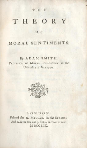 SMITH (ADAM) The Theory of Moral Sentiments, FIRST EDITION, 1759