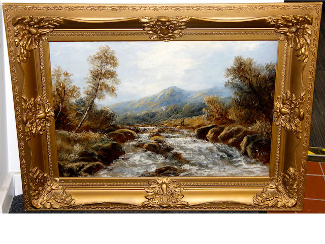 English School, late 19th Century River landscape,