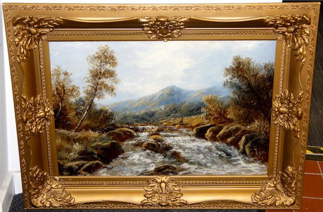 English School, late 19th Century River landscape,