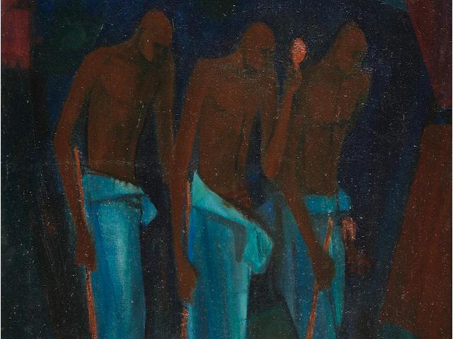 Yusuf Adebayo Cameron Grillo (Nigerian, born 1934) The Mourners