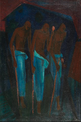 Yusuf Adebayo Cameron Grillo (Nigerian, born 1934) The Mourners