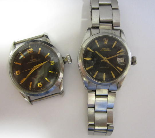 A lot of two stainless steel watches (AF)