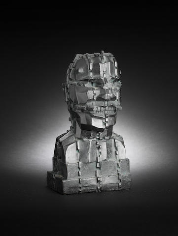 Sir Eduardo Paolozzi (British, 1924-2005) Mondrian Head 24.1 cm. (9 1/2 in.) high