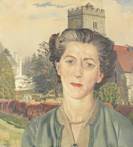Sir Stanley Spencer R.A. (British, 1891-1959) Portrait of Rachel Westropp 60.9 x 55.8 cm. (24 x 22 in.)