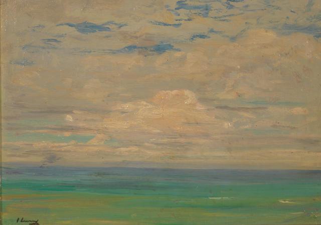 Sir John Lavery R.A., R.S.A., R.H.A. (1856-1941) The Cadiz Boat 25 x 35 cm. (9 7/8 x 13 3/4 in.)