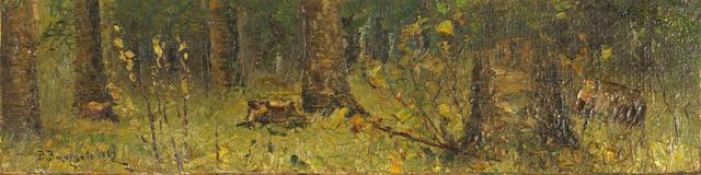 Viktor Mikhailovich Vasnetsov (Russian, 1848-1919) The woodland thickets