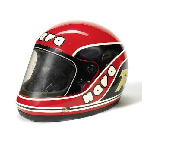Randy Mamola's 1982 season race helmet,