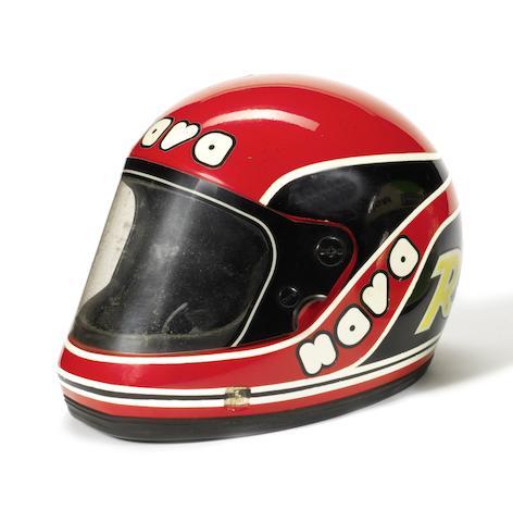 Randy Mamola's 1982 season race helmet,