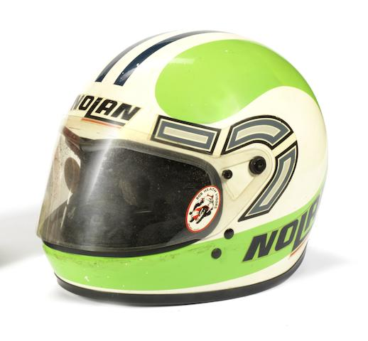 Kork Ballington's 1981 season race helmet,