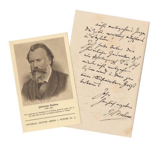 Brahms letter