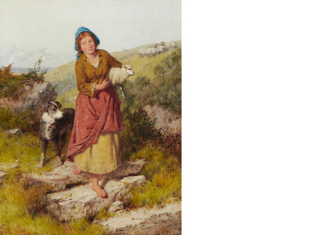 Isaac Henzell (British, 1815-1875) The rescued lamb