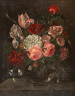 Dutch School, 18th century Still life with flowers in a vase