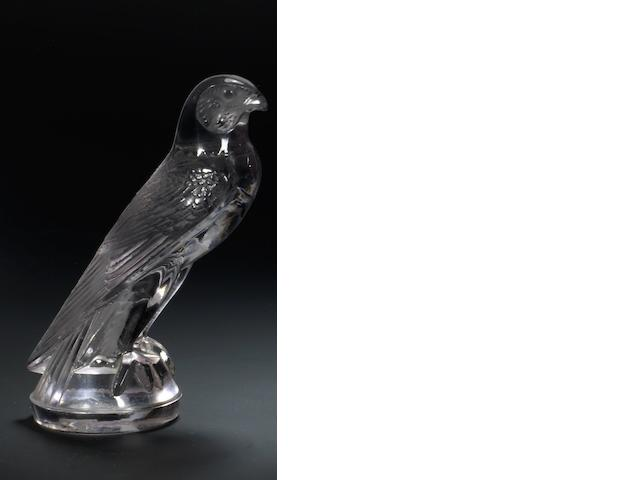 A Rene Lalique 'Faucon' glass mascot, French, introduced 5th August 1927