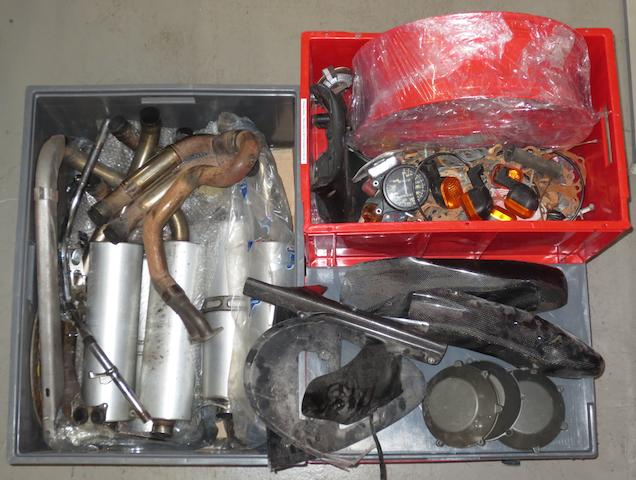 Assorted Ducati exhaust and other parts,