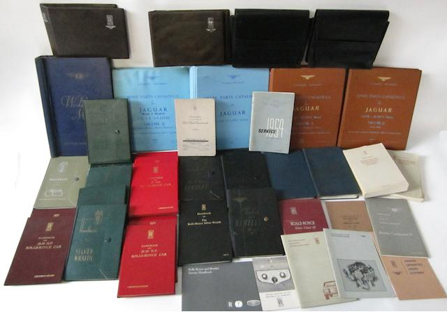 A collection of Rolls-Royce and Bentley technical literature and handbooks,