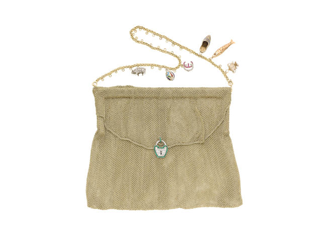 A gem-set mesh evening bag  (30) (illustrated above)