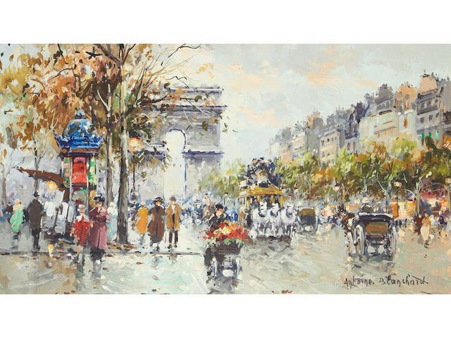 Antoine Blanchard (French, 1910-1988) Avenue des Champs-Élysées