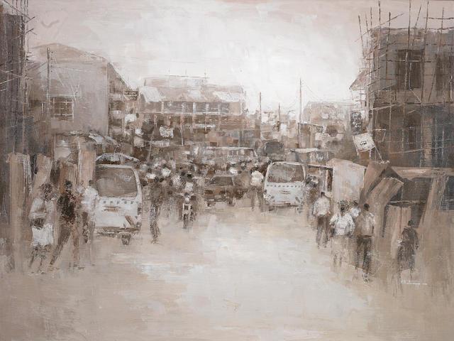 Ismael Kateregga (Ugandan, born 1980) Kampala unframed
